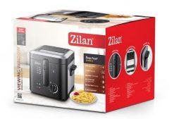 Friteuza Zilan ZLN-0010, 1600 W, 2.5 l, Termostat reglabil, Cuva detasabila, Inox